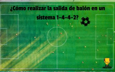 ¿Cómo realizar la salida de balón en un sistema 1-4-4-2?